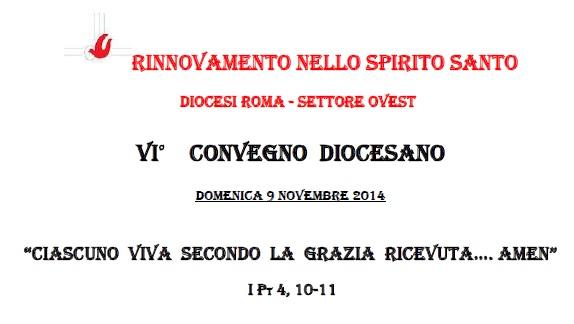 Locandina VI Convegno Diocesano 9 novembre 2014
