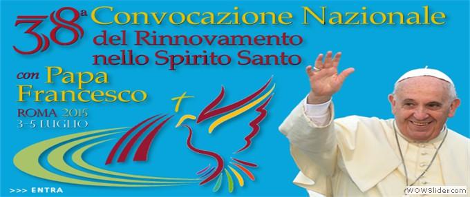 38^ Convocazione Nazionale del RnS con Papa Francesco