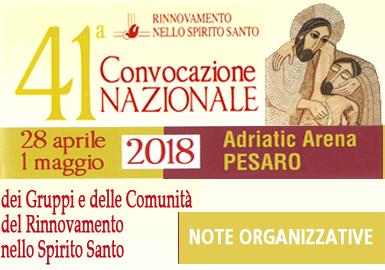 41ª Convocazione Nazionale, a Pesaro dal 28/04