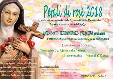 Serata Petali di Rose, il 2 ottobre a Torrevecchia-Primavalle
