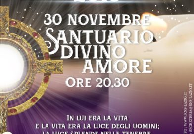 È tempo di Avvento, venerdì 30 novembre Veglia al Divino Amore